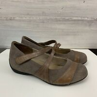 Ziera (Kumfs) Size 38 - 39 Round Toe Leather Mary Jane Flats Brown Suede #571