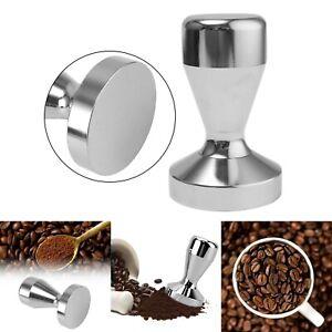 Handle Press Cafe Coffee Tamper Barista Espresso Flat Silver Tool 51mm Base