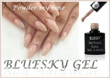 BLUESKY POWDER MY NOSE CREAM NUDE NEUTRAL UV LED GEL NAIL POLISH FREE P&P