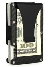Slim Aluminum Wallet Minimalist Carbon Fibre Card Holder with Money Clip.