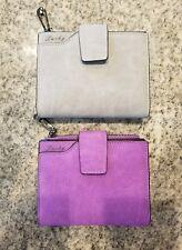 Vintage Matte Women Wallet Ladies Casual Leather Hasp Zipper Pouch Short Clutch
