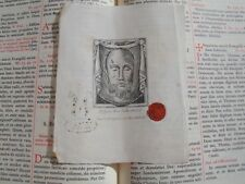 Vatican rare relic 1800s Veil of Veronica sudarium COA