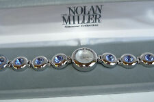 Nolan Miller Glamour Collection Watch Amethyst Purple Stones Bracelet Style New