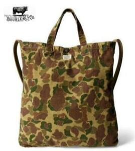 RRL Authentic Herringbone twill cotton Camouflage Tote Bag New Unused from Japan