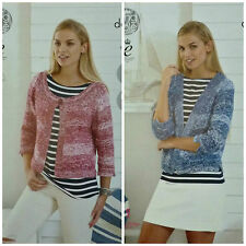 Knitting Pattern femmes Easy Knit Scoop ou V-neck cardigan VOGUE coton Dk 4460