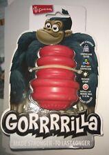 "Multipet Gorrrrilla Heavy Duty Dog Toy Kong Red, 3.5"" Med dogs (15-35lbs) NEW"