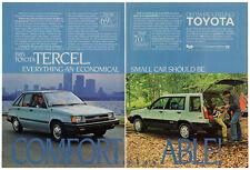 1985 TOYOTA Tercel Vintage Original Print AD 2 cars photo 2 pages SR5 wagon ca