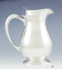 Antique c1915 American Sterling Silver Tea / Cocktail Pitcher w/Strainer Spout