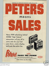 1959 PAPER AD Peters High Velocity Ammo Ammunition Box Boxes 30-06 Springfield