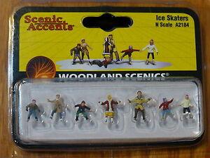 Woodland Scenics N #2184 Ice Skaters