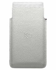 Genuine BlackBerry Leather Case Pocket Pouch for Leap White ACC-60115-002