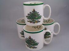 Quatre Spode Christmas Tree tasses à café, 1st.