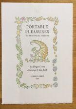 Libanus Press. Portable Pleasures. Picnics. 1992 Publicity Sheet.