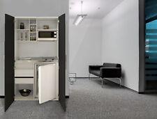 Schrankküche Küche Miniküche Küchenzeile Küchenblock weiß schwarz respekta
