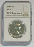 1963 Proof 50c Silver Ben Franklin Half Dollar, NGC, PF 68