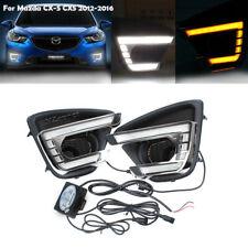 LED Daytime Running Light For Mazda CX-5 CX5 12 13-2015 2016 Fog Signal Lamp DRL