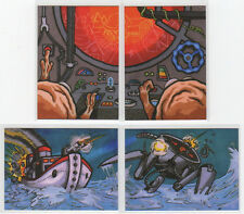 2013 Cult Stuff War Of The Worlds Dual Puzzle Case Topper Card Set of 4 #CT1-CT4