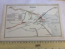 RAHENY DUBLIN CLONDALKIN BLANCHARDSTOWN MILLTOWN SYDNEY PARADE RAILWAY MAP 1912