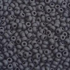 8/0 Matt Black Czech Seedbeads 40 grams
