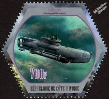 WWII SEEHUND (Seal) Type XXVII-B Midget U-Boat Submarine Warship Stamp (2018)