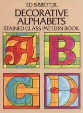 Stained Glass Pattern Book - DECORATIVE ALPHABETS