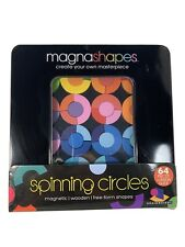 Magnashapes SPINNING CIRCLES MAGNETIC WOODEN Free-Form Shape Puzzle NEW