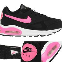 Nike Air Max Womens Ladies Black Pink UK Size 3 5 5.5 Running Gym Trainers