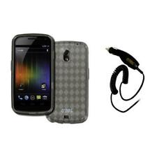 EMPIRE Smoke Soft Poly Case Cover+Car Charger for Samsung Galaxy Nexus I515
