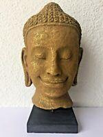 Rare statuette BOUDDHA BODHISATTVA Khmer papier mâché recyclé original Cambodge