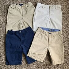 Lot Of 4 Boys Uniform Chino Shorts * Size 6 & 7 * Oshkosh * Cat & Jack