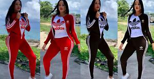 Adidas Trainingsanzug für Damen  Frauen Sportanzug Jogginganzug S M L XL