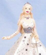 Celebration Barbie Hallmark Ornament Christmas 2001 Mint in Box White Gown Stars