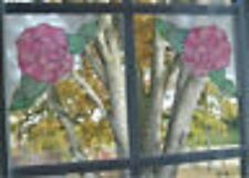 STAINED GLASS ROSE CORNERS CLING DECALS SET OF 4