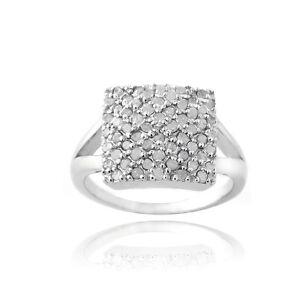 3/5ct Diamond Square Promise Ring