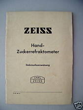 Zeiss Hand-Zuckerrefraktometer Gebrauchsanweisung