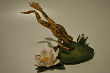 Country Artists*LEAPING FROG LANDING ON LILY PAD  *04319-retired-rare