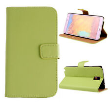 GREEN GENUINE WALLET FLIP LEATHER CASE COVER FOR SAMSUNG GALAXY NOTE 3 N9000
