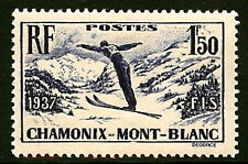 FRANCE #322 MINT VERY LIGHT HINGED CPL. - CV$14.00