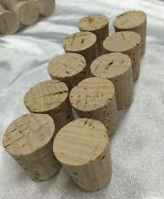 10 Push-In, Tapered, Round Corks Plugs Fits 11/16 Large End 15/16