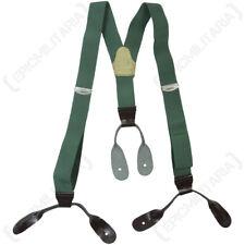 Czech Surplus Braces - Army Surplus Military Trouser Suspenders Soldier Uniform