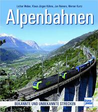 Fachbuch Alpenbahnen, Magistralen Alpen Schmalspurbahnen Zahnradbahnen, NEU