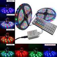 10M 2*5M 3528 RGB Flexible Strip 600 LED Light 12V + 44 Key IR Remote Controller