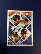 1994 Topps #369 DAVID BELL, JASON GIAMBI, ARIAS Rookie Prospects Indians A's HOT