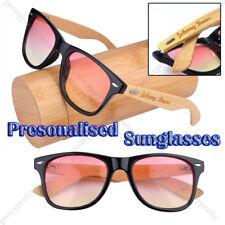 Personalised Engraving Bamboo Wood 2 tone UV400 lens Sunglasses Bridesmaid Gift