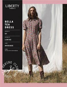 Liberty Of London Bella Tea Dress making sewing pattern sizes 14-22