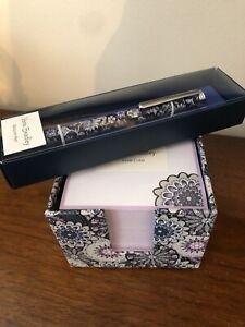 VERA BRADLEY Note Cube and Pen NEW IN BOX!