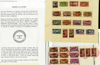 Lebanon Stamps Rare Archive Madagascar Proof Series 1930's