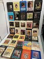Lot of 35 x 8 Track Tapes various artists incl RARE Christmas W/ The Chipmunks