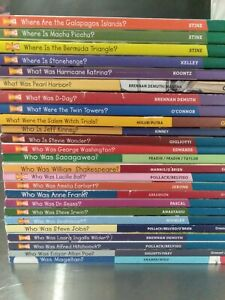 lot of 25 books Who was? Who is? Where is? What were? What was? Pearl Harbor Twi