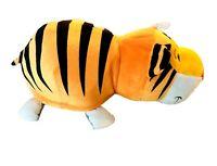 "Jumbo Flip A Zoo Reversible Tiger Elephant 22"" Plush Toy Pillow Stuffed Animal"